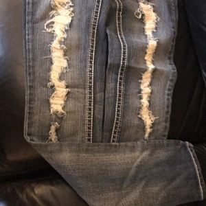 Silver Paradise Skinny Jeans NWOT